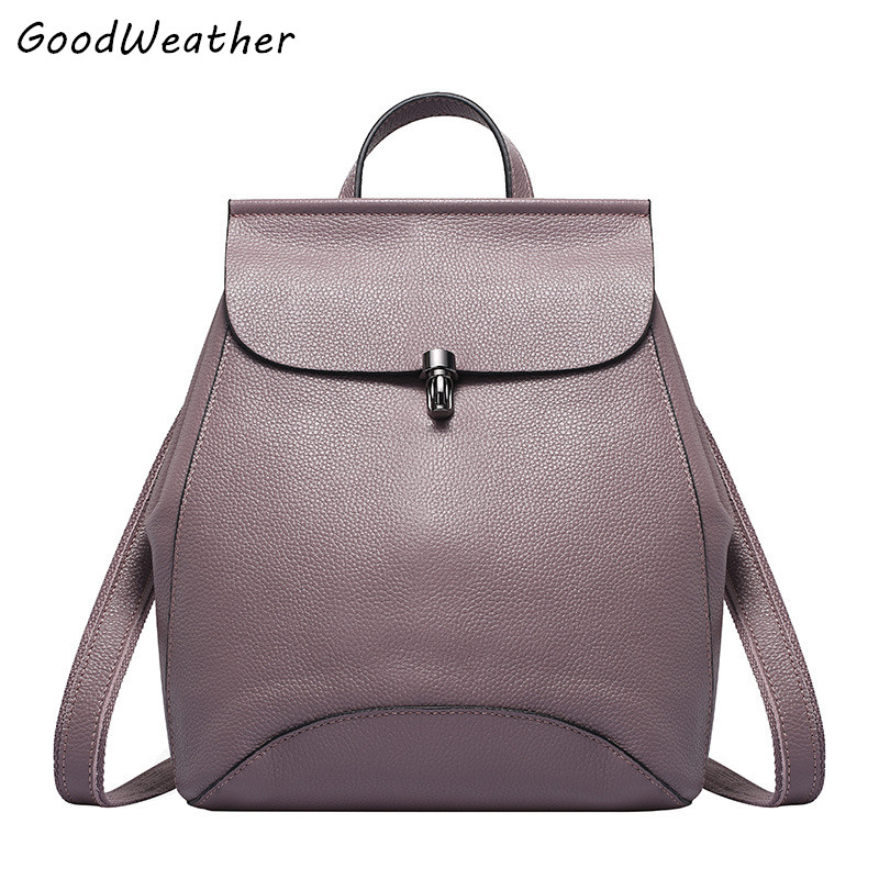 Hot sale genuine leather women backpack waterproof bags fashion large capacity ladies travel backpacks 6 colors mochila escolar 2016 fashion women s genuine leather backpack backbag hot selling woven genuine leather