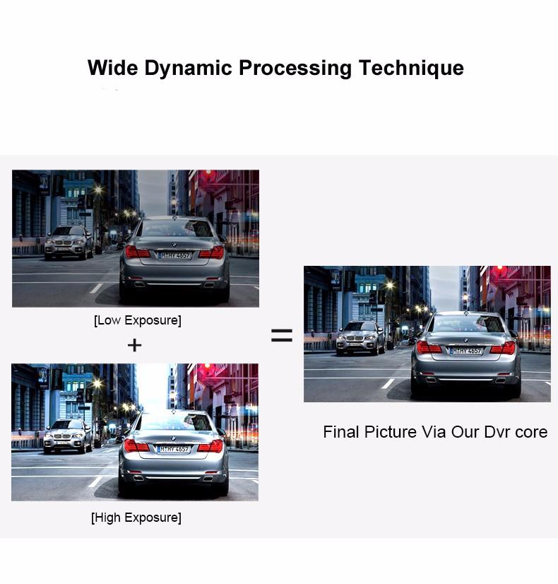 Jansite 1080P Car Dvr Blue Review Mirror Dual Lens Car Camera two cameras Loop record Recorder Auto Registrator Camcorder 14
