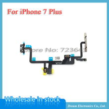 MXHOBIC 5pcs/lot Power on/off & Volume Button Connectors With Flex Cable Ribbon For iPhone 7 plus 5.5 Replacement Parts