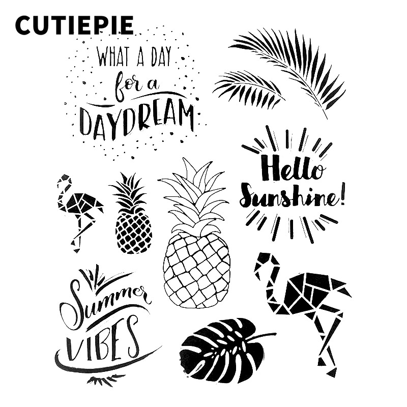 hello sunshine fruit transparent clear stamps for scrapbooking diy photo album embossing folder