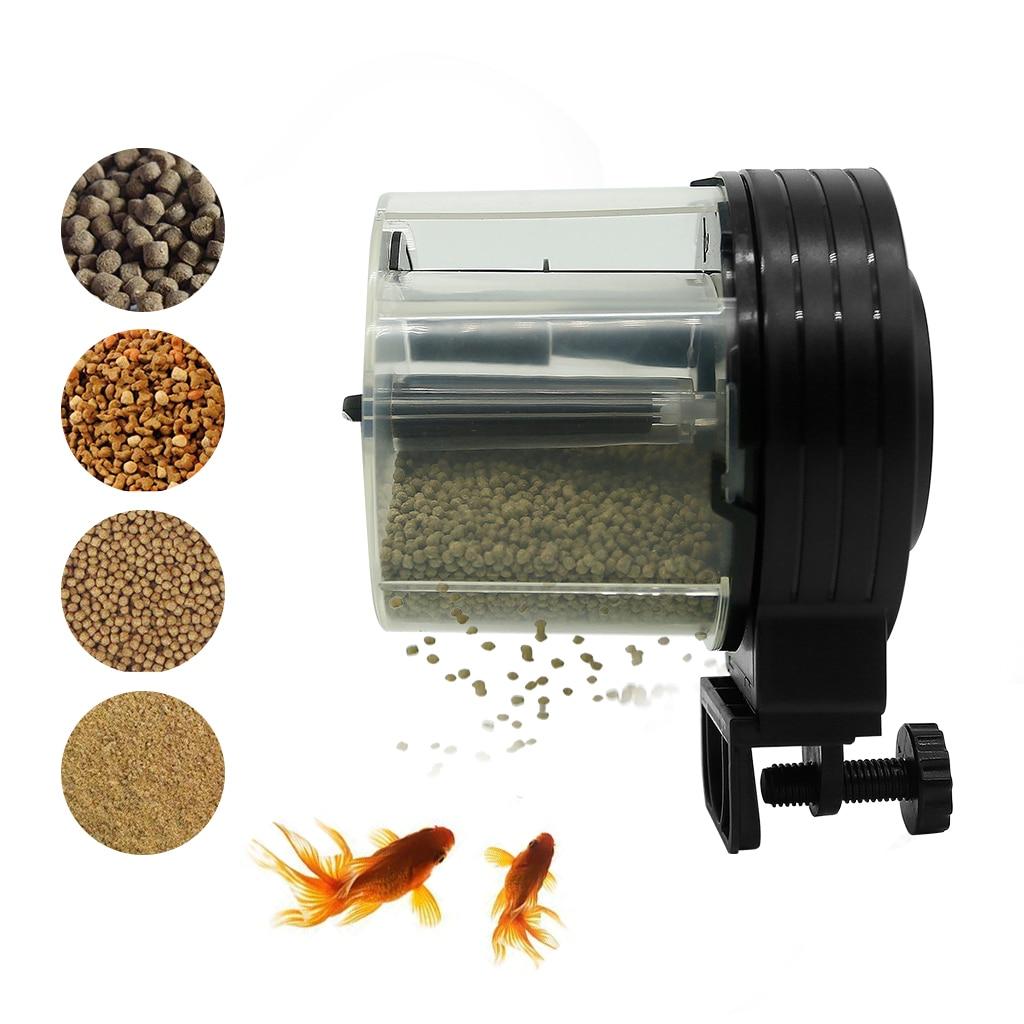 Mini Automatic Fish Feeder Aquarium Tank Timer Vacation Auto for Aquarium&Fish Vacation&Weekend Black