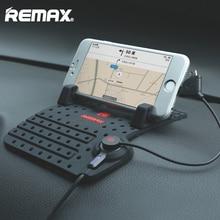 Remax Mobile Car Phone Holder for iPhone Samsung Adjustable Bracket Phone GPS Holder Stand for Car Mount Holder + USB Cable