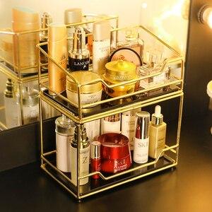 Органайзер для макияжа, ящик для хранения туалетной косметики для ванной комнаты, туалетный столик, косметический Чехол