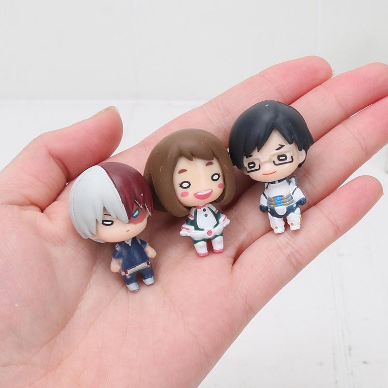 5pcs/set My Hero Academia Midoriya Izuku Bakugou Katsuki Shoto Boku No Hero Academia Figure PVC Model Toy Dolls 3cm