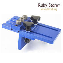 Professional 3 Dowel Holes Wide Capacity Self-Centering Jig Doweling Self Centering Wood Tool Clamp tool