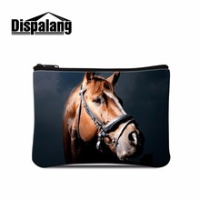 Dispalang trendy female wallet horse print mini change coin purse child purse makeup buggy bag pouch portable money bag coin bag coin purse mano 19850 blue