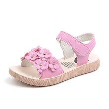 Pink Summer Kids baby Girl Shoes Children Flowers princess Shoes Kids Baby Grils Sandal 3T 4T 5T 6T 7T 8T 9T 10T 11T 13T 14T 15T