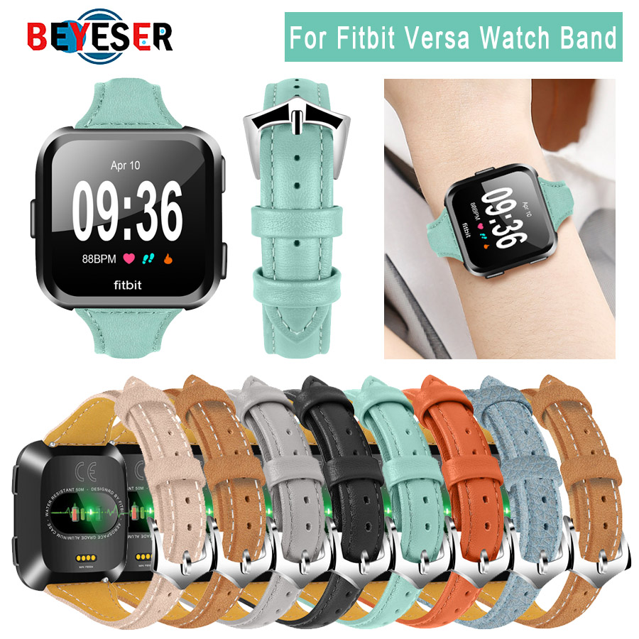watch bracelet belt for fitbit versa watchbands leather strap watch band watch accessories wristband for fitbit versa watch 2018