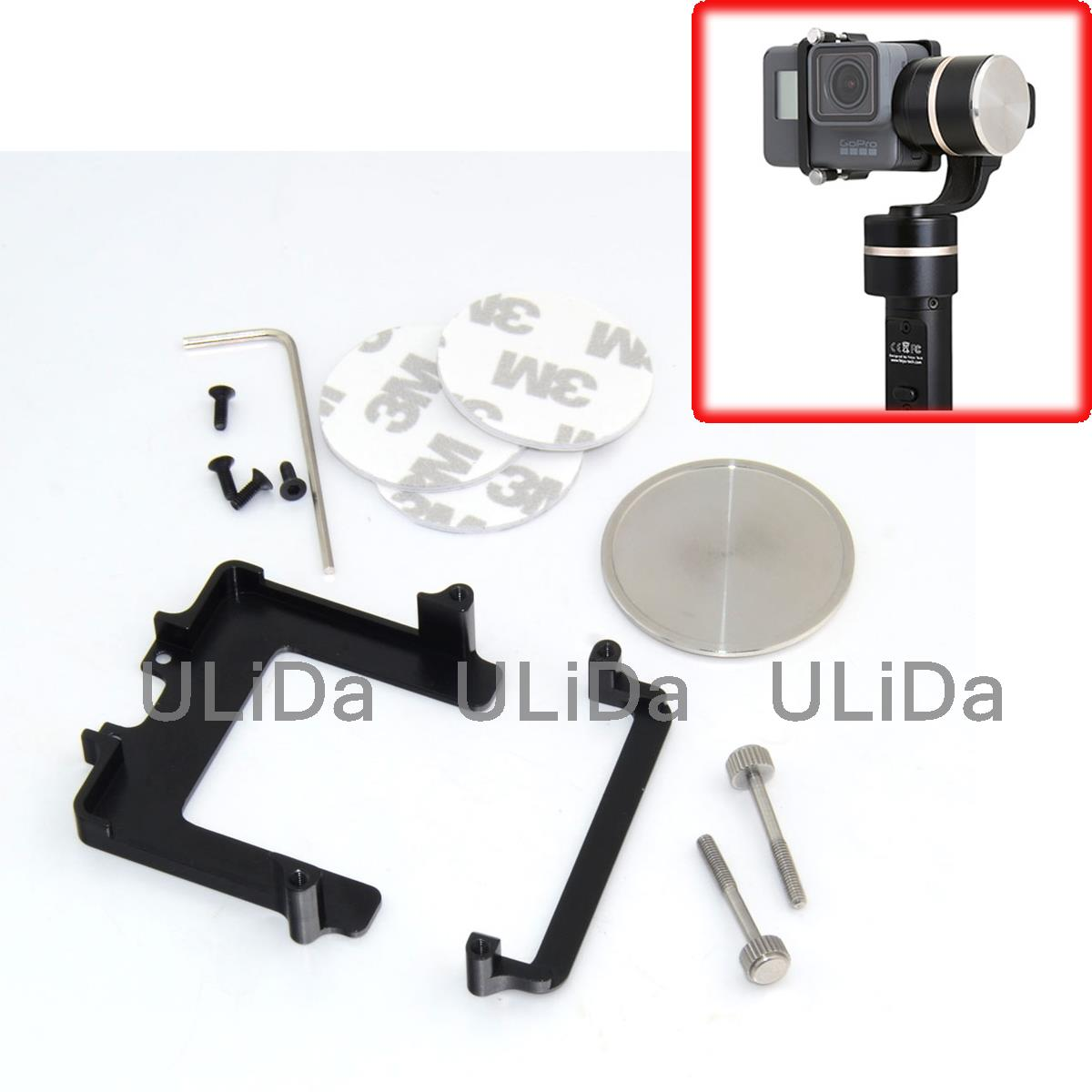 все цены на 44.7mm Adapter for Feiyu G4 Gimbal Replace Hanging Board Plate Mount for GoPro5 Xiaomi Yi Sports Camera онлайн