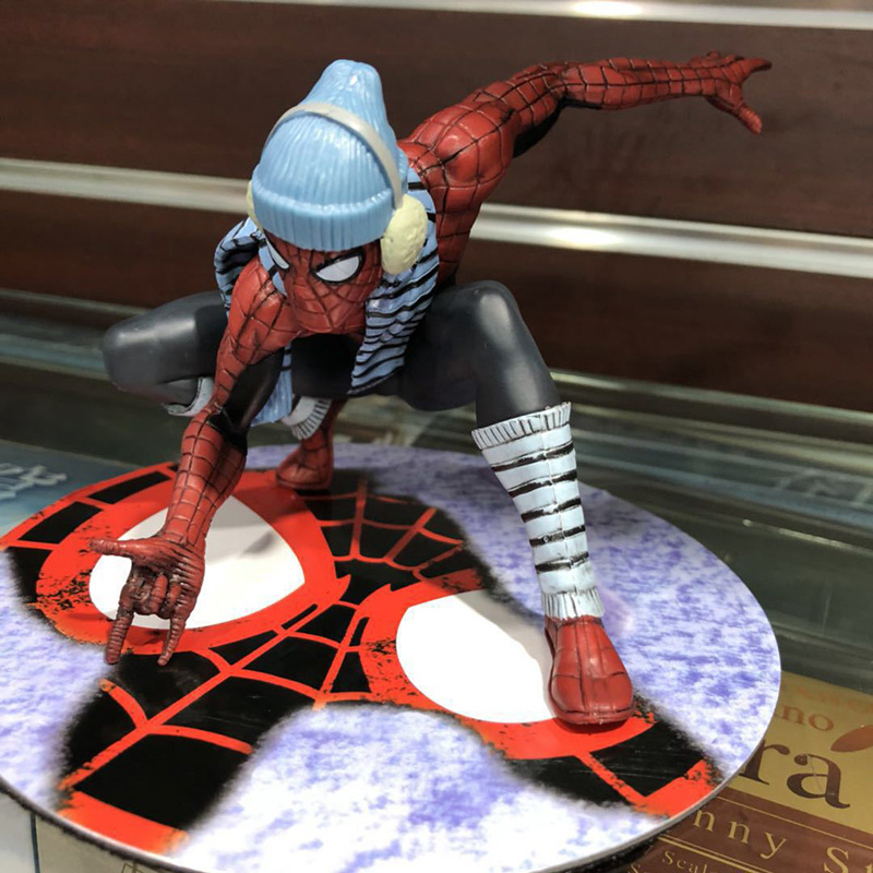 The Homecoming Spiderman Figure 1/10 scale painted figure Winter Dress Version Spider Man PVC Action Figures Toy Brinquedos