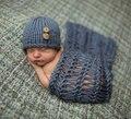 Gorros fotografia Newborn prop traje do bebê de crochê e cobertor handmade knitting atrezzo fotografia china distribuidor do produto
