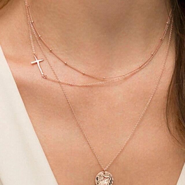 43d9f221be94 Barato de moda joyería fina collar de cadena nueva con colgante bisuteria  mujer collares etnicos collar