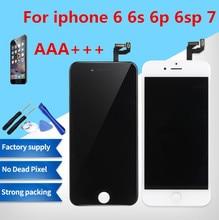 Grade AAA +++ Para iPhone 6 6 S Mais LCD Com Força 3D 7 Tela de Toque Digitador Assembléia Para iPhone exibir Nenhum Pixel Morto