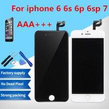 Klasy AAA + + + dla iPhone 6 6 S Plus LCD z 3D życie ekran dotykowy Digitizer zgromadzenie dla iPhone 7 wyświetlacz nie martwy piksel