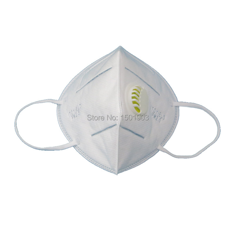 Dental KN95 vertical folding nonwoven valved dust mouth mask PM2 5 disposable respirator mask with valve