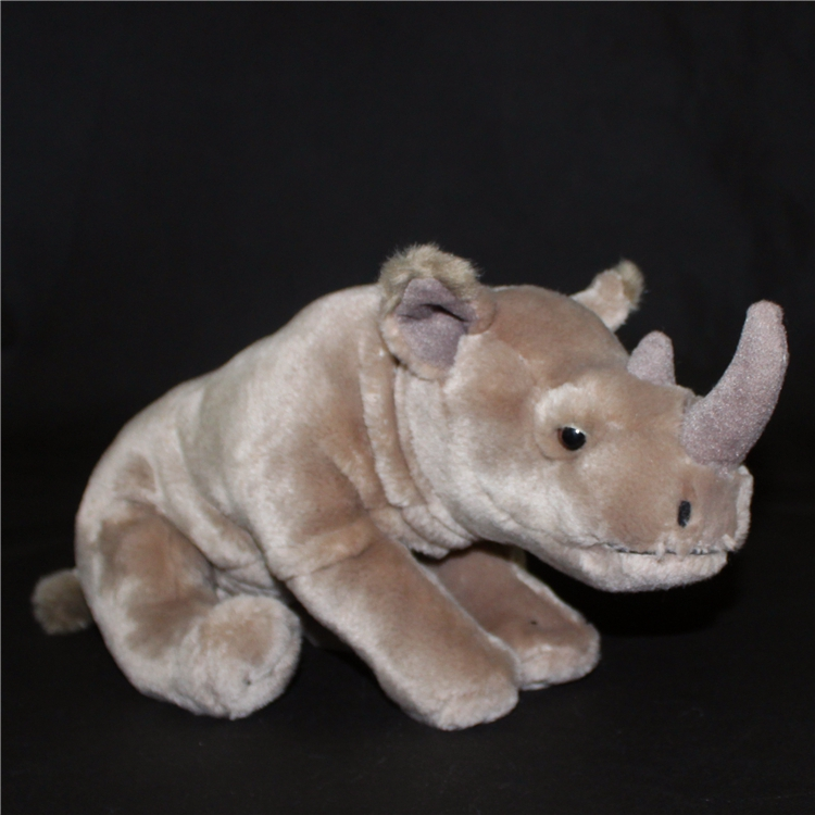 Plush Sumatra Double Rhino Doll Toy Simulation  Animals Kids Toys Gifts Sitting Rhinoceros Dolls кукла kids toys 2015 40 plush toy