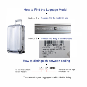 Image 2 - Transparante Bagage Cover Voor Rimowa Rits Reizen Koffer Cover Reizen Accessoires Clear Bagage Protector Cover voor Rimowa