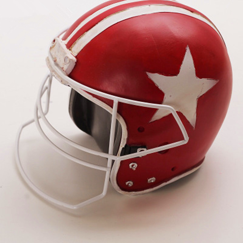 American Football Cap Retro Making replica Helmet Model Colophony Crafts Home Furnishing Articles Desktop Decoration G1968