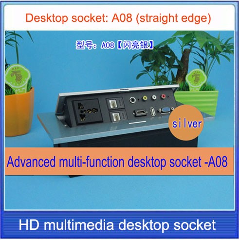 Tabletop socket /hidden/VGA, 3.5 audio, HDMI, USB, network,RJ45 video Information outlet box /High-grade desktop socket /A08