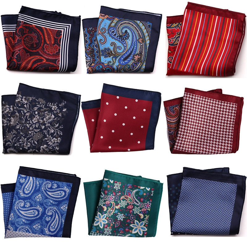 2019 New Style Cotton Fashion Pocket Square Vintage Handkerchief Flower Printed 23*23cm Hankies Towel For Men Suit Wedding Party