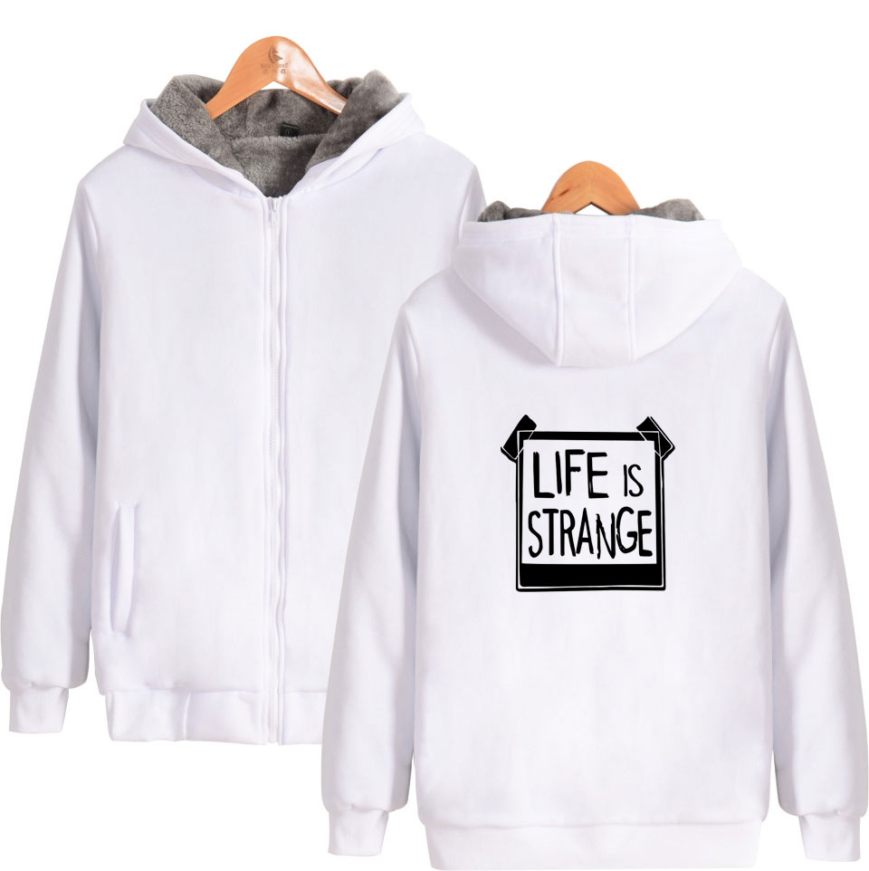 Image 3 - Game Life is Strange Thick Warm Sweatshirt With Hat Whatif Print Hoodie Winter Life is Strange Max Caulfield Thick Hoodie-in Hoodies & Sweatshirts from Men's Clothing