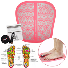 Electric EMS Foot Massager Feet Muscle Stimulator Tens Physiotherapy ABS USB Rechargeable Pink Black