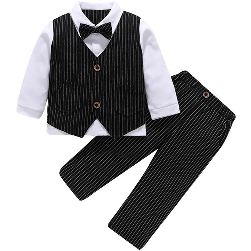 famuka Baby Boys Bodysuit Clothes Wedding Gentleman Romper Formal Jumpsuit