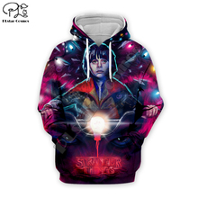 PLstar Cosmos Unisex clothing Horror Stranger Things Print Hoodies Men Sweatshirt women Casual Season 3 outsuit