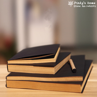 ヴィンテージ黒クラフト紙スケッチブック落書き帳厚いノートブックスクラッチノート -
