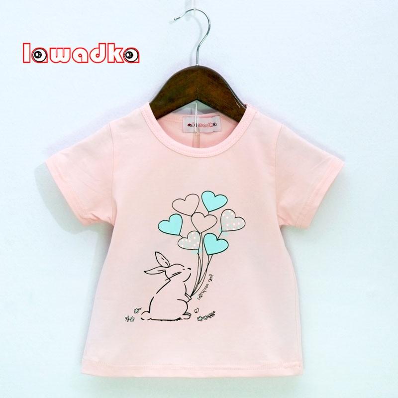 Lawadka  Rabbit Balloon Pattern Sport Baby Girls Boys T-shirt Short Sleeve T-shirts For Girls Cotton Children Clothes