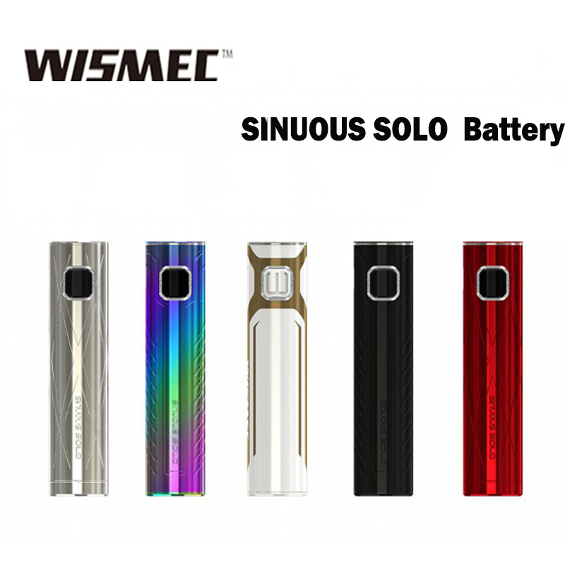 Wismec SINUOUS <font><b>SOLO</b></font> <font><b>Battery</b></font> 40W Powered by an internal 2300mAh <font><b>battery</b></font> Fit for wismec AMOR NS Pro Tank image
