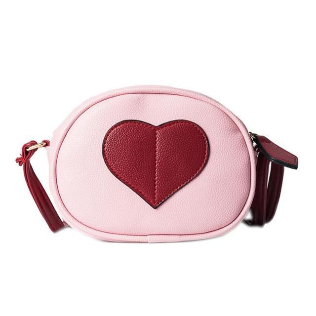 Women Messenger Bags Heart-Shaped Round Shoulder Bag Girls Messenger Round  Handbag Small Mini Bag Drop Ship Wholesale  T