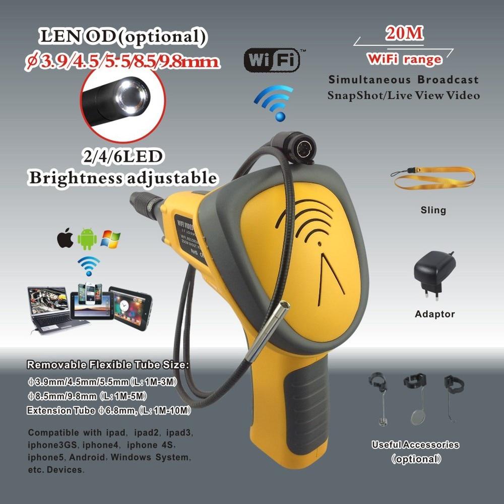 Super Wi Fi Borescope CMOS endoscope camera cctv camera inspection tool
