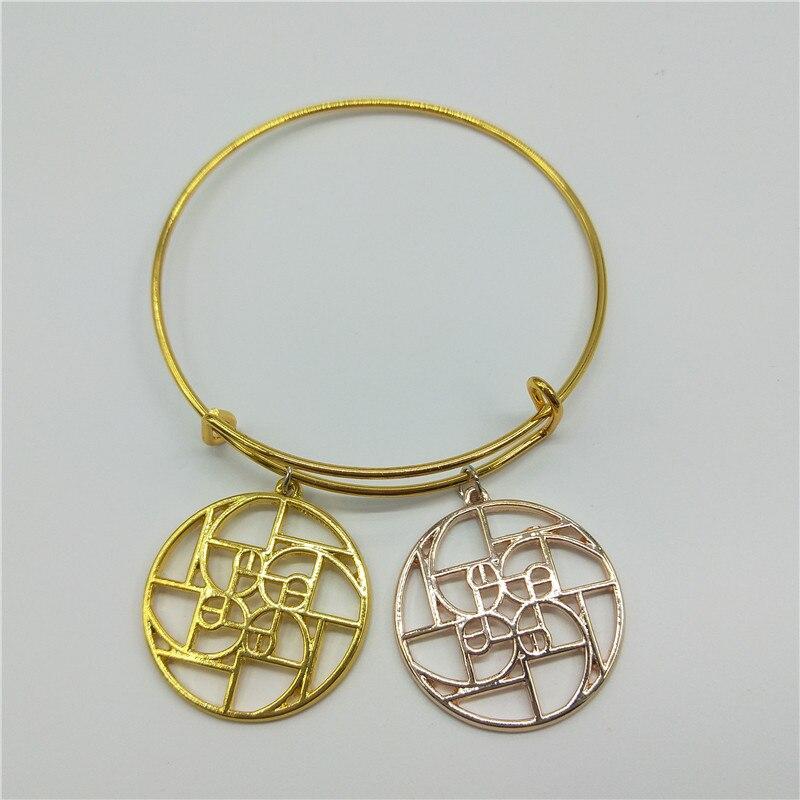 Fibonacci un spirale in un cerchio-Oro un spirale-golden rapporto-geometria regalo-scienza Braccialetti graducation regalo