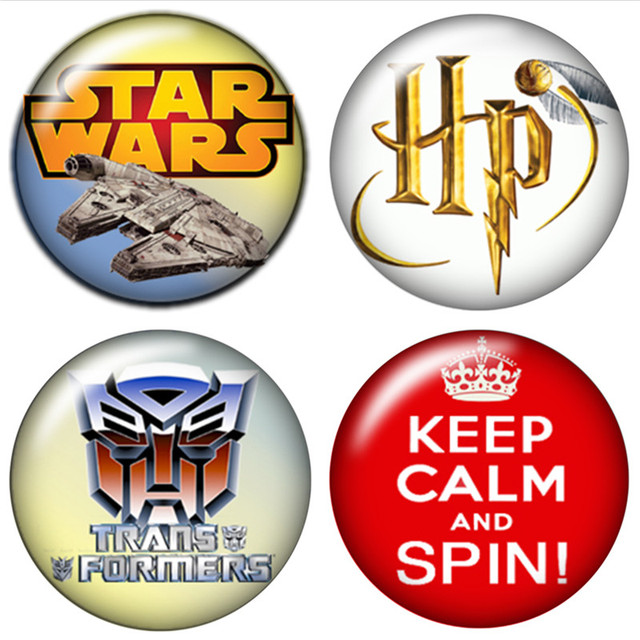 US $1 04 20% OFF|HP star wars football team 10pcs mixed 12mm/16mm/18mm/25mm  Round photo glass cabochon demo flat back Making findings ZB0450-in