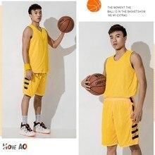 HOWE AO баскетбольная форма быстросохнущие мужские баскетбольные трикотажные изделия жилет и шорты Двусторонняя одежда спортивная одежда