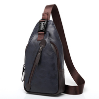 Brand PU Leather Men S Chest Bag Fashion Vintage Travel Male Crossbody Bag Zipper Man Casual