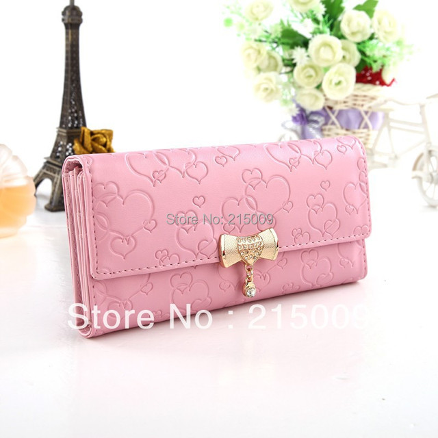Free Shipping 2016 Hot Selling Zipper Heart Money Clips Change Bag Women's Purse Wallet