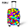 FORUDESIGNS Heart-shaped Elastic Waterproof Rain Cover Luggage Protective Cover For 18''-30'' Suitcase Case Cover Travel Cover