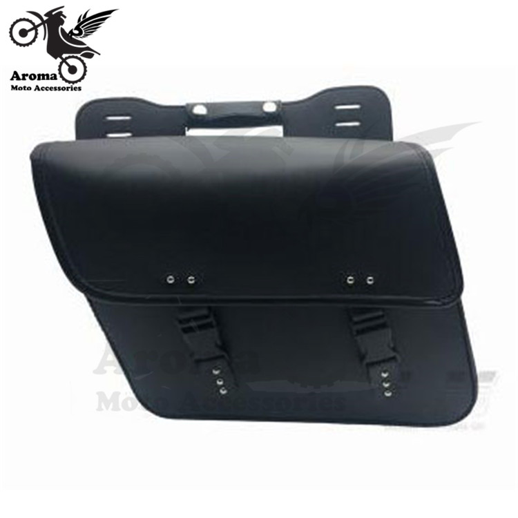 Black Motorcycle Saddlebag leather motorcycle bag Motorcycle Left Right Saddle Side Bags Motor PU Leather Tool Bags for Harley цена