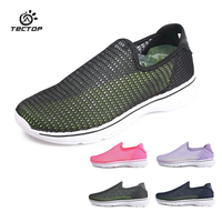 TECTOP New High Quality Men And Women Summer Breathable Mesh Slip On Simple Lazy Footwear Walking
