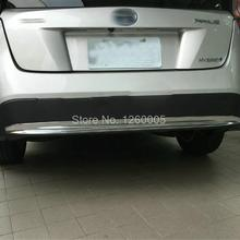 For TOYOTA PRIUS 2016 2017 ABS Chromed Outer Rear Bumper Guard Rear Trunk Scuff Plate tread plate Sill car-styling