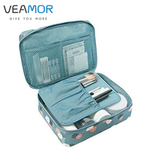 VEAMOR Travel Organization Beauty Cosmetic Make up Storage Bags Lady Wash Bags Cute Handbag Pouch Accessories WB1363