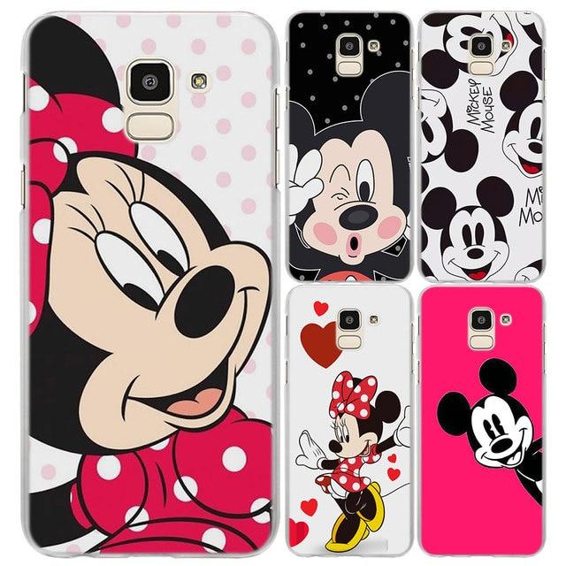 cf2ff532465 mickey Minnie Mouse Cartoon phone Case Cover for Samsung J4 Plus J6 Plus J8  2018 J3 J5 J7 Prime Hard PC Phone Case coque fandas