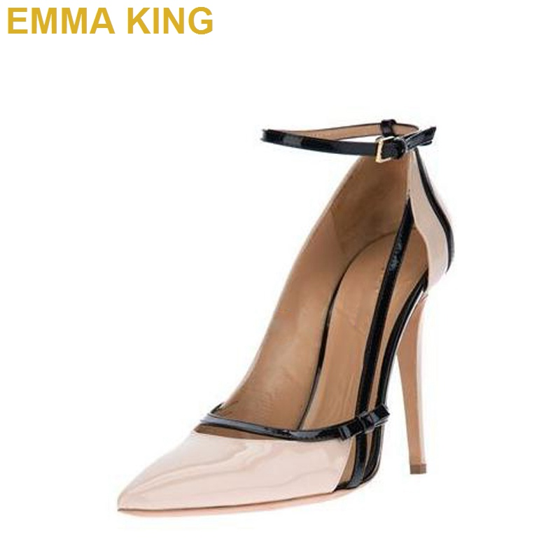 Pointed Toe Ankle Strap Buckle Pumps Fashion Summer Women Shoes High Heels Bowknot Decor Hollow Out Stiletto Heels Woman PumpsPointed Toe Ankle Strap Buckle Pumps Fashion Summer Women Shoes High Heels Bowknot Decor Hollow Out Stiletto Heels Woman Pumps