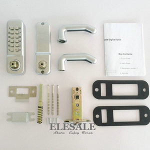 Image 5 - New Zinc Alloy Keyless Mechanical Door Lock Combination Digital Code Deadbolt Lock With Handle Non Power Lock Access Control