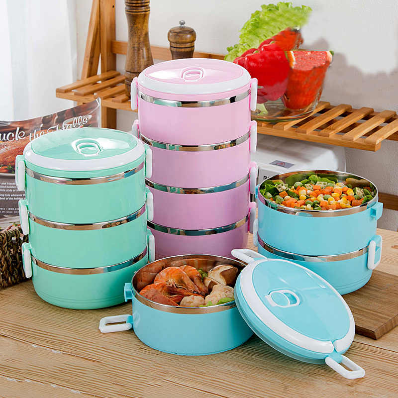 Sealed Stainless Steel Lunch Box For Kids Student Food Heated Thermos Containers Organizer Bento Box Lunch Heated Meal