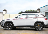 for Jeep Compass 2017 2019 body Waist line Decorative stickers