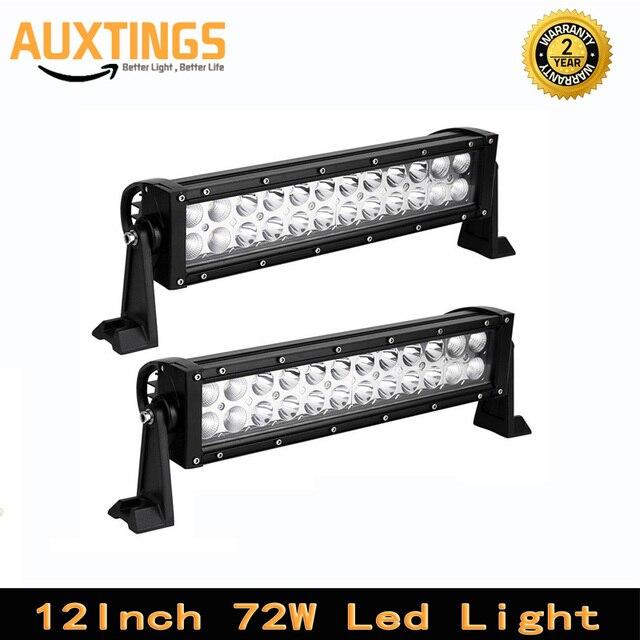 12 inch 2x72 w combo beam 12 volt led verlichting bar ip67 auto led rijden licht