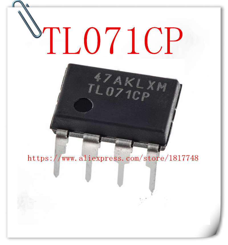 20PCS TL071 TL071CP DIP-8 Low Noise JFET Input Operational Amplifiers TI IC NEW